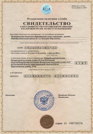 она тоже дается при регистрации но и заказывается в ИФНС в любое время.